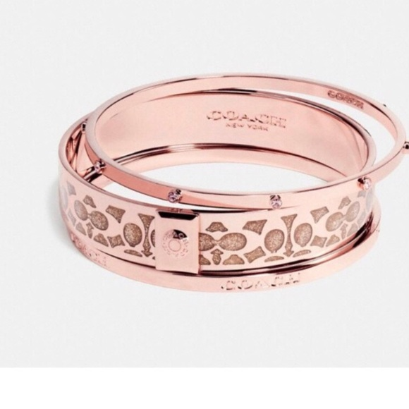 3fe6e744e Coach Jewelry | Nwt Rose Gold Bangle Bracelet Set | Poshmark